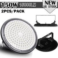 2 Pcs Ultraslim 150W UFO LED High Bay Lights 220V Waterproof IP65 Commercial Lighting Industrial Warehouse Led High Bay Lamp