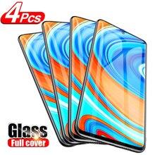 4Pcs Full Glass For Xiaomi Redmi Note 10 9 7 5 8 Pro 8T Mi 10T Poco X3 F2 Screen Protector on Redmi note 9s 8 Pro Tempered glass