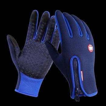 Spacer ryby rękawice wędkarskie pełny palec wodoodporna oddychająca skóra ciepłe Pesca Fitness akcesoria wędkarskie karpia zimowe wędkowanie tanie i dobre opinie WALK FISH CN (pochodzenie) DB02 Anti-Slip Z pełnym palcem Fishing gloves S M L XL Autum Winter Blue Black Orange Purple