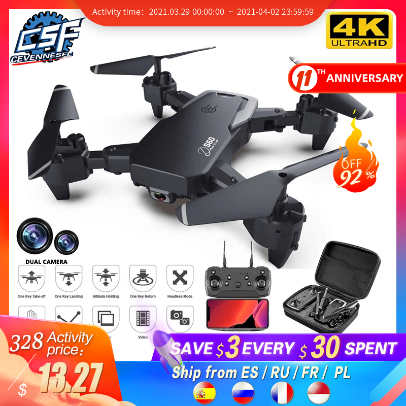 2020 NEW Drone 4k profession HD Wide Angle Camera 1080P WiFi fpv Drone Dual Camera Height Keep Drones Camera Helicopter Toys RC Helicopters  - AliExpress