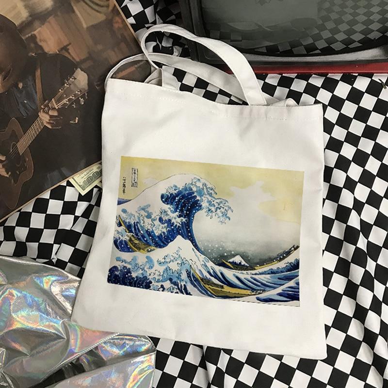 Japanese new wave fun print casual female college Harajuku Vintage female ins canvas Ulzzang large capacity shoulder bag| | - AliExpress