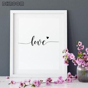 Image 4 - Quadro su tela decorazioni nordiche fiore di peonia rosa Poster e stampa Love Wall Art immagine floreale decorazioni per la camera da letto decorazioni per la casa