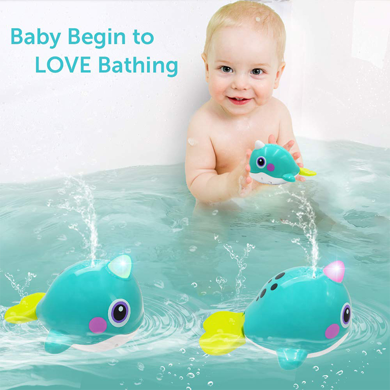 HOLA 8101 Bath Toy For Baby 13-24 Months Whale Bathtime Bathing Toy With Music & Light Waterproof Bathing Tub Pool Toy For Kids