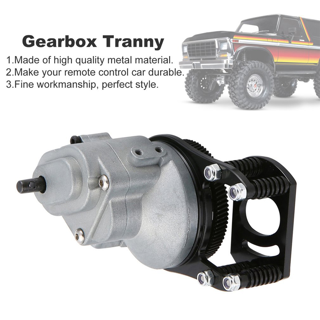 Metal Speed Transmission Gearbox Gear Modification Upgrade Parts for 1/10 D90 II/D110 Rock Crawler RC Car - Silver