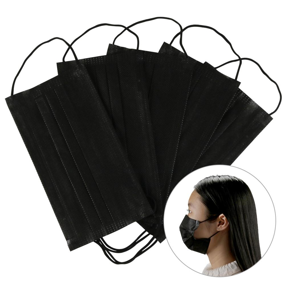 Disposable Mouth Mask Black/Pink/Blue/White Mouth Face Masks Non-Woven Disposable Mask In Stock