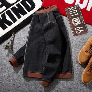 Image 3 - בתוספת גודל 8XL 7XL אופנה ברדס מזדמן כותנה מעילי חדש סתיו חורף הסטודנטיאלי סגנון Slim Fit מזויף שני חתיכות ג ינס מעיל גברים