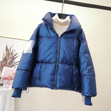 Womens Cotton Clothes New Winter Bright Face Short Jacket Breadwear Down Fashion