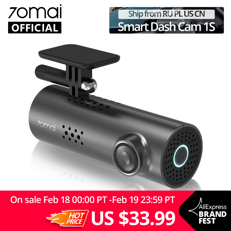 Wideorejestrator Xiaomi 70mai Car DVR 1S za $30.49 / ~124zł