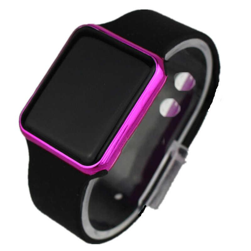 LED Elektronik Olahraga Silikon Kids Fashion Kasual Luar Ruangan Digital Display Jam Tangan Sederhana Anak-anak Gadis Anak Laki-laki Hadiah Clock Reloj