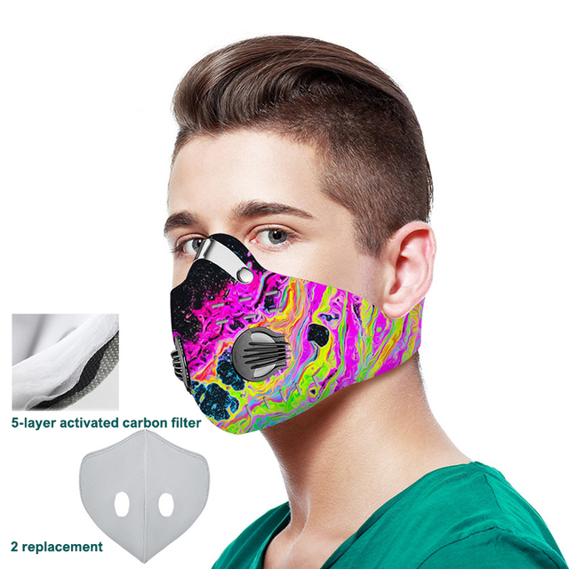 3D printing Mouth-muffle Face Mask Breathing Anti-dust PM 2.5 Dustproof Mask With Activated Carbon Filter Reusable Mouth Mask 1