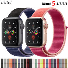 Correa de nailon para Apple watch 5 bandas 44mm 40mm iWatch banda 42mm 38mm correa de reloj deportivo Apple watch 4 3 2 1 38 40 44mm(China)