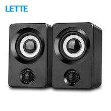 AUX Mini Computer Speakers USB Powered 1.3m Wired 1 Pair Bass Stereo Speakers for Laptop Desktop Phone 3W*2 Powerful Loudspeaker