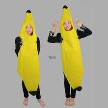 Nova novidade das mulheres dos homens adultos crianças carnaval personagem engraçado festa barra estágio banana traje de dança terno superior fantasia roupas