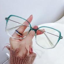 Myopia Glasses Optical-Spectacle Oversized Anti-Blue-Light Prescription LONSY Eyewear