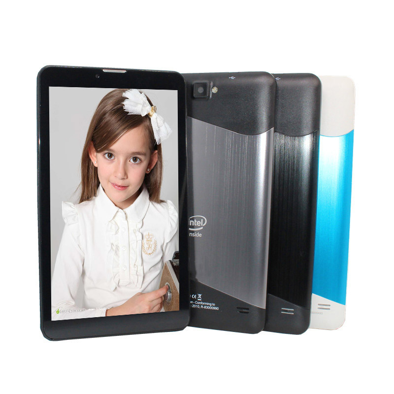 7inch Tablet PC Bluetooth Support 3G Phone Call   Intel Atom Sofia 3GR  Quad Core Andriod 5.1 1+8GB  1024 X 600