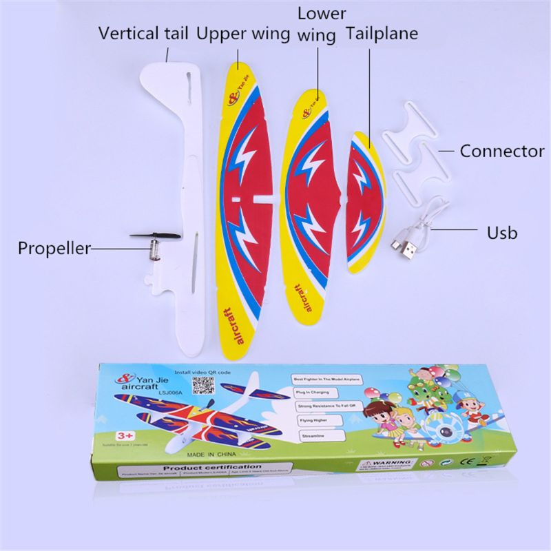 Hot Electric Hand Throw Flying Glider Plane Toys Flying In The Sky For Long Time Foam Aeroplane Model Outdoor Sports Y4QA