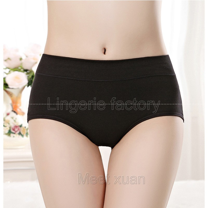 6XL Sexy Ladies Panties High Waist Full Cotton Girl Briefs Comfortable Breathable Seamless Panties For Womens