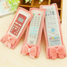 1pcs Waterproof Cloth Remote Control Dust Cover TV Television Cartoon Bear Air Conditioner Protect Dustproof Storage Bag(China)