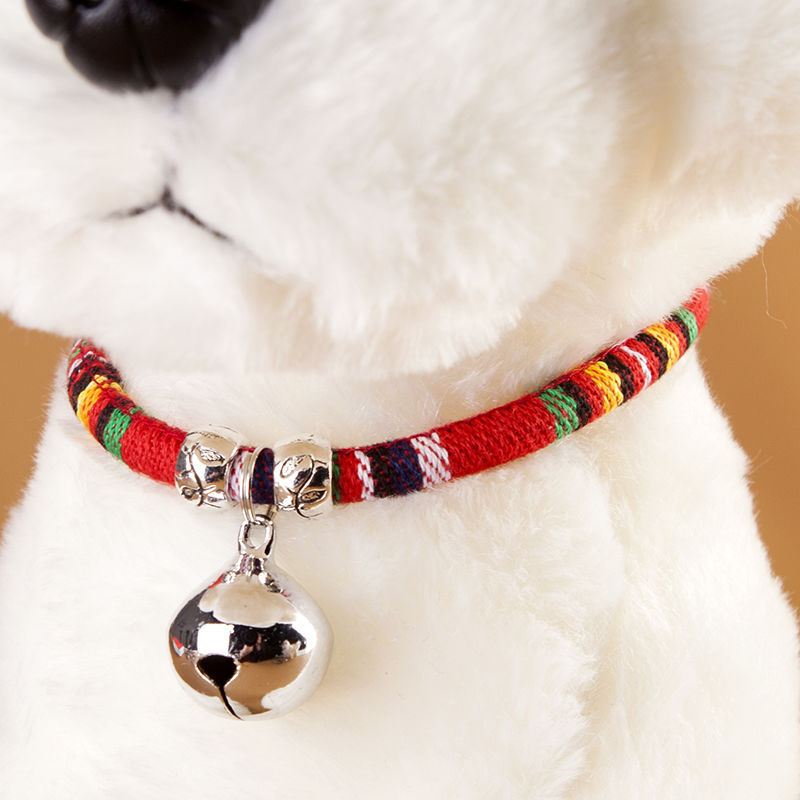Pet Supplies Dog Bell Neck Ring Dog Cat Teddy Bell Neck Ring Bichon Neck Ring Necklace Brass Bell Silver Bell Cute