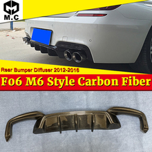 цена на For BMW 6 Series F06 M6 Style carbon fiber Rear bumper diffuser m tech m-sport & M6 640i 640d 650i 650d Rear Lip bumper 2012-16