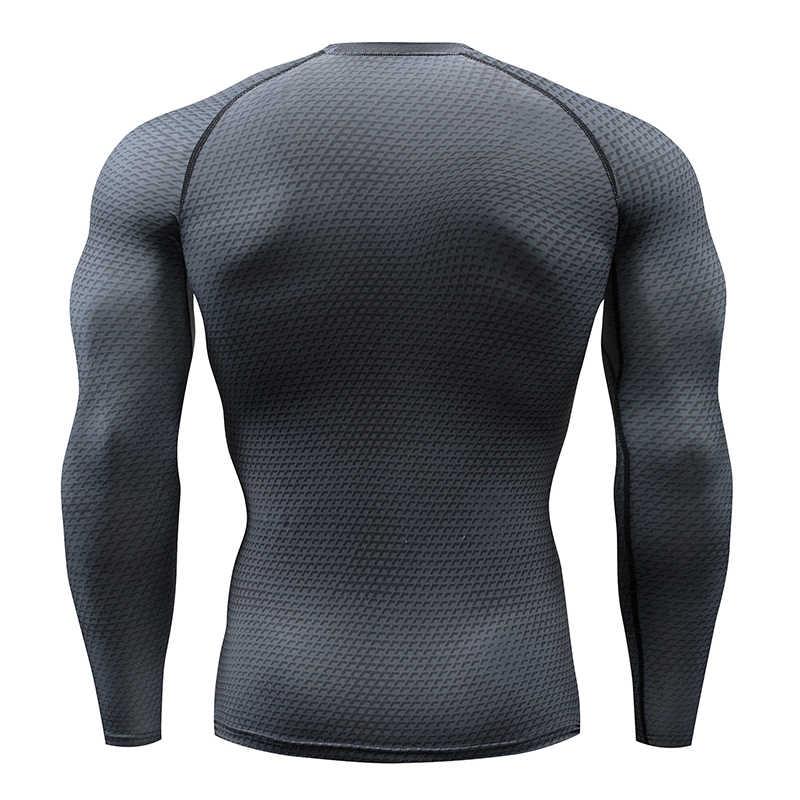 K Berlaku Berjalan Kemeja Pria 3D Cetak Gym Kebugaran MMA Lengan Panjang T-shirt Lari 2019 Bodybuilding Workout Kemeja Atasan