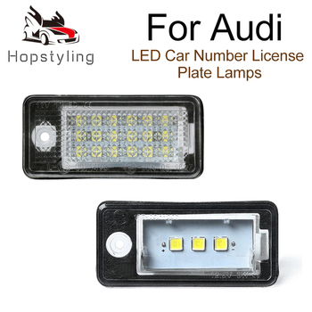 2Pcs Error Free LED License Number Plate Light Lamp Audi A6 C6 4F RS6 A3 8P S4 A4 B6 B7 RS4 A5 8F A8 S8 Q7 4L Plus/vant new arrival 2pcs 22 universal front window windshield wiper blade for audi a4 s4 a6 c6