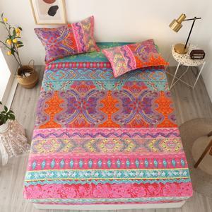 Bonenjoy Bed-Sheet Pillowcase Elastic Queen-Size Bohemian Single/king-Size 3pcs