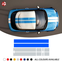 Car Hood Decal Bonnet Stripes Roof Rear Engine Cover Body Sticker For MINI Coupe R58 Cooper S JCW John Works Accessories
