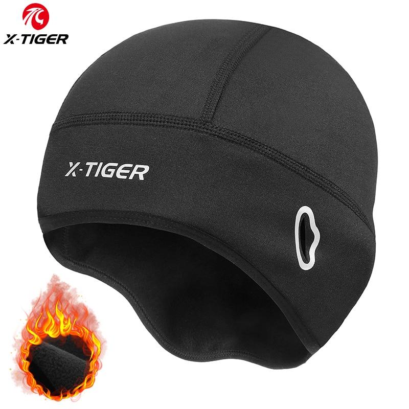 Gorros de lana X-TIGER para ciclismo, impermeables, sombreros para andar en bicicleta, térmicos, para el camino de nieve, para deportes, cálidos