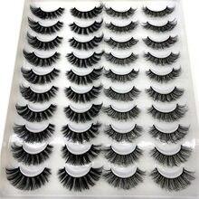 Hbzgtlad 20 pares cílios postiços naturais cílios feitos à mão volume macio 3d cílios maquiagem por atacado vison cílios extensão