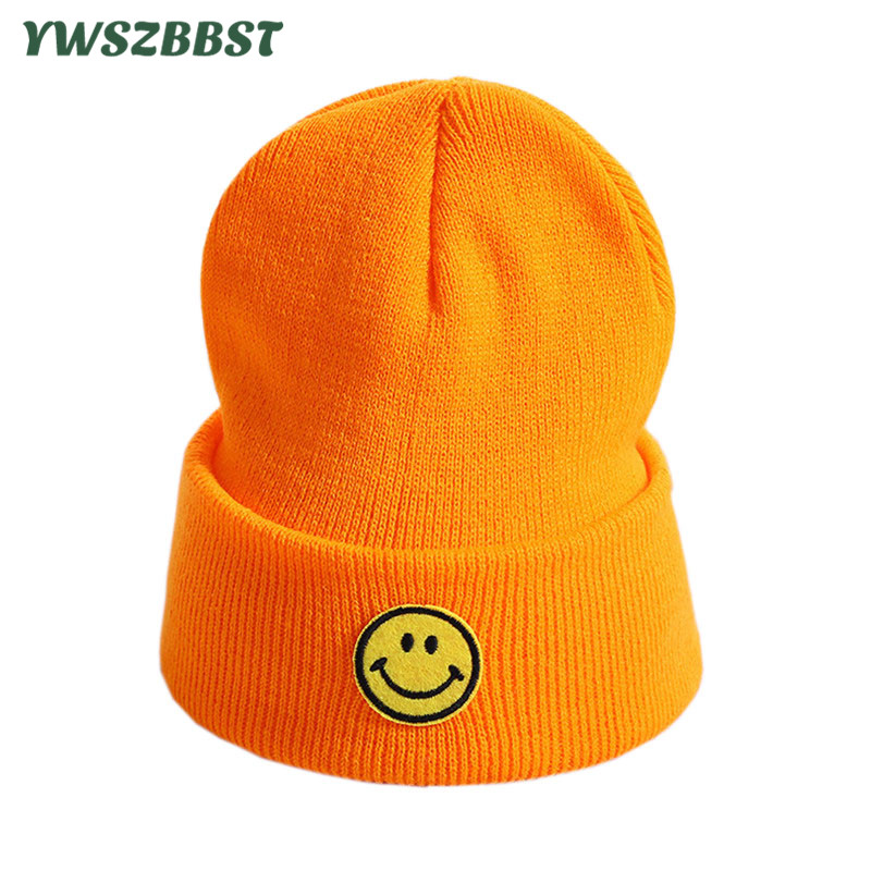 New Knitted Children Hats Smile   Beanies   Hat Warm Girl Boy Cap Autumn Winter Baby Hat Toddlers   Beanie   Cap