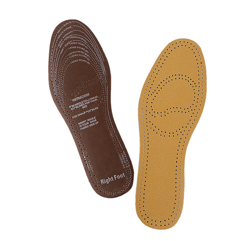 1 Pair Breathable Deodorant Shoes Insole Pads Ultra Thin PU Leather Insoles Instantly Absorb Sweat Replacement Inner Soles