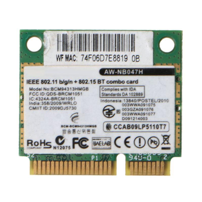Беспроводной адаптер для карт для Broadcom Bcm94313HMGB AW NB047H BCM4313 Половина мини Pci e Wifi сетевая карта с Bluetooth4.0|Сетевые карты|   | АлиЭкспресс