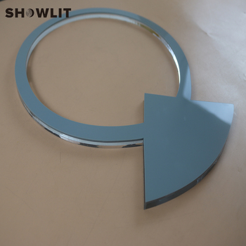 Laser Cutting Acrylic Letters Custom Made Silver Color Clear Acrylic Logo Sign
