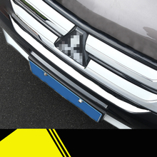 Lsrtw2017stainless Ssteel Car Front Grill Strip Trims for Mitsubishi Outlander 2016 2017 2018 Middle Net Accessories
