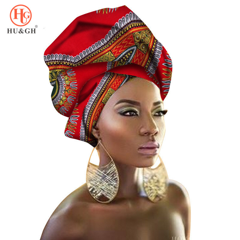 Latest African Headtie Clothing Ankara Headwrap Women African Traditional Headtie Scarf Turban 100% Cotton Headband Wax 90*110