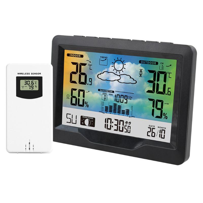 Weather Station Meter Digital Watch Alarm Clock Wireless Sensor Barometer Indoor Outdoor Thermometer Instruments Tools
