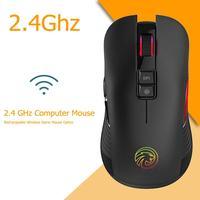 M600 2.4 ghz sem fio gaming mouse usb recarregável rgb backlight computador óptico mudo silencioso gamer ratos para computador portátil desktop