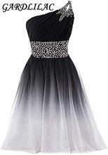 Gardlilac 2020 halter черно белые градиентные платья для встречи