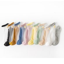 20 PCS = 10 Pairs Hipster Ankle Women Socks Fashion Transparent Female Summer Female Women's Transparent Crystal Socks