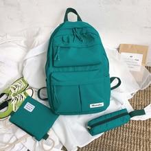 Pink 3 Piece Set Student Backpack Teenage Girls School Bags Women Bookbags Oxford Schoolbag Teen Campus High School Bag 2019 New