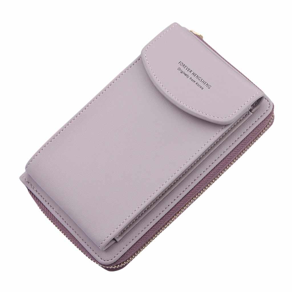 Kadın cep telefonu çantası toka omuz askılı çanta büyük kapasiteli cüzdan moda küçük değişim çanta kadın dokuma toka gerekir