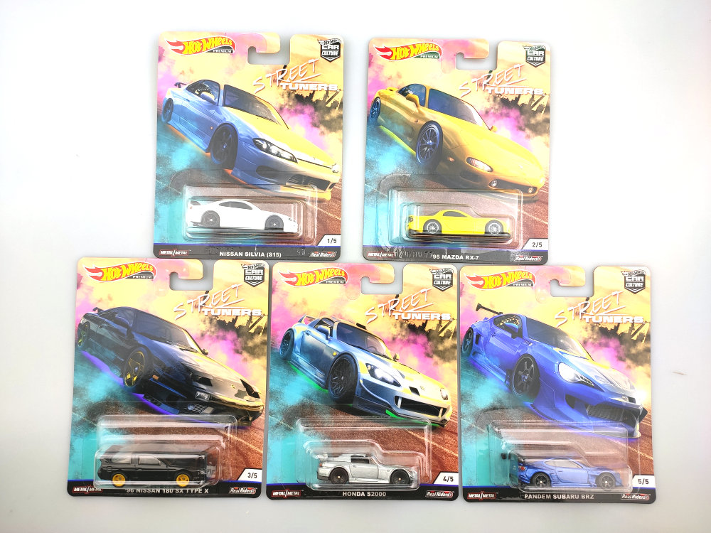 Hot Wheels Car 1:64 Car Culture Street Tuners PANDEM SUBARU BRZ  NISSAN  Collector Edition Real Riders Metal Diecast Model Car