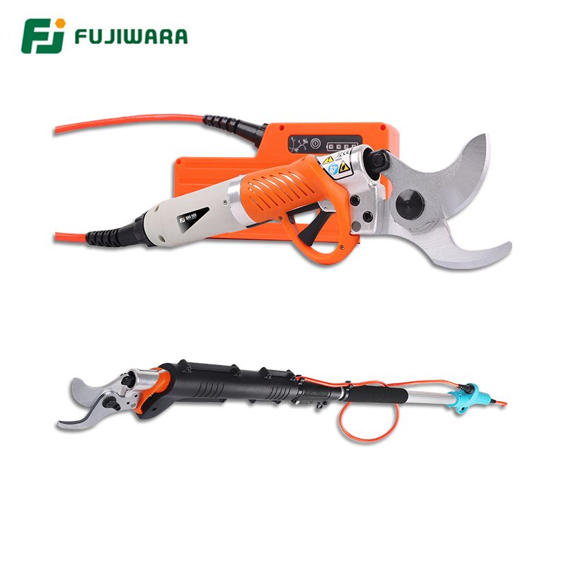 FUJIWARA 36V High Branch Pruning Shears Lithium Battery Hedge Trimmer Trim Diameter 0-45mm Adjustable Telescopic Rod 1.2-1.8m