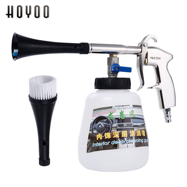 Car Dry Cleaning Gun High Pressure Washer Automobiles Water Gun Car Deep Clean Washing Accessories Tornado Cleaning Tool Styling