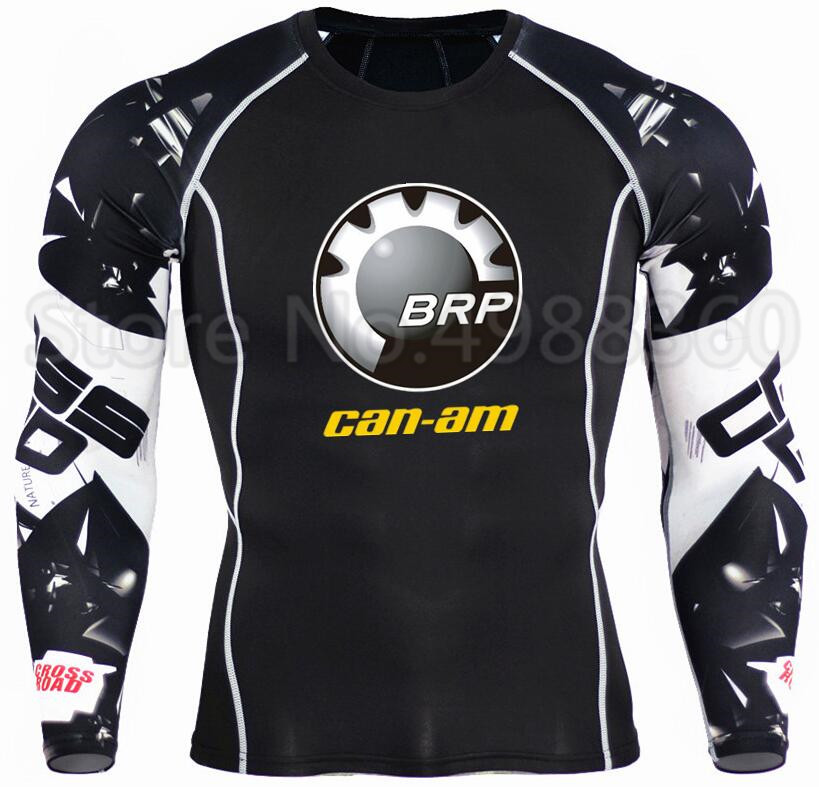 BRP Can-am Team Print Compression Tshirt Men Long Sleeves T Shirt Plus Size Fitness Clothing Quick Dry Bodybuild Tops Tees