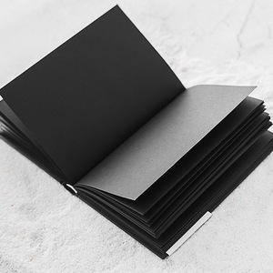 Image 1 - A5 All Black Paper Blank Inner Page Portable Small Pocket Notebook Sketchbook Stationery Gift Hardcover Notepad A5 SIZE