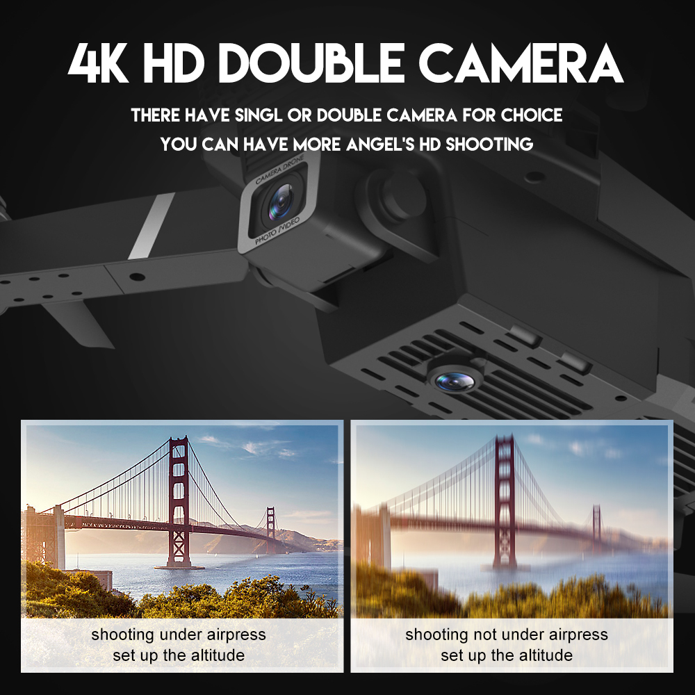2020 NEW E525 drone 4k HD wide-angle dual camera 1080P WIFI visual positioning height keep rc drone follow me rc quadcopter toys 4