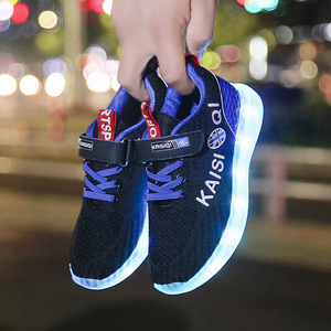 Image 2 - Size 25 35 2019 New Arrival Kids Shoes for Girl Boys Glowing Luminous Sneakers with Light Childrens LED Shoes USB Charging