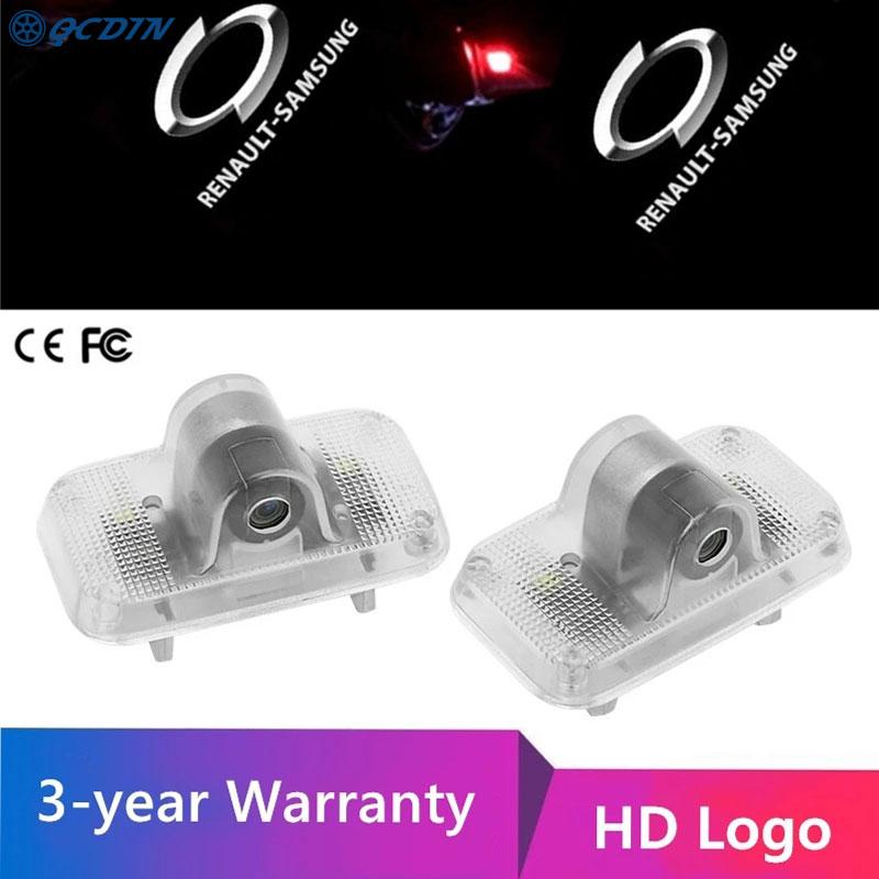 Купить qcdin для renault samsung hd светодиодные дверные фонари автомобиля